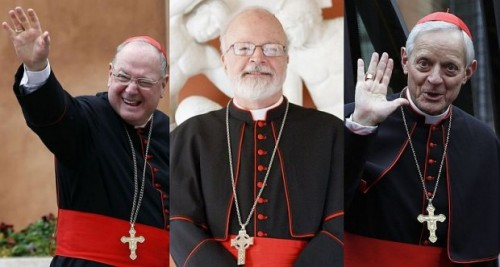 Timothy Dolan, arcibishop of New York; Sean O'Malley, archibishop of Boston and Donald Wuerl arcibishop of Washington (Reuters)