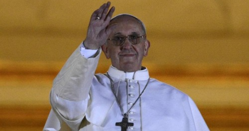 Newly elected Pope Francis, Cardinal Jorge Mario Bergoglio of Argentina appears on the balcony of St. Peter's Basilica at the Vatican (Reuters)