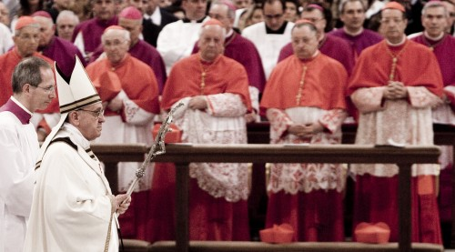 Pope Francis leads the Celebration of installement Mass at St. Paul's Basilica in Rome