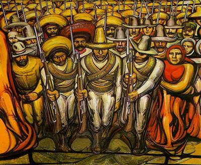 Mexico Revolucion - una delle opere del famoso pittore Diego RIvera