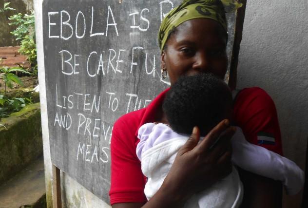 In rural Freetown, Sierra Leone...