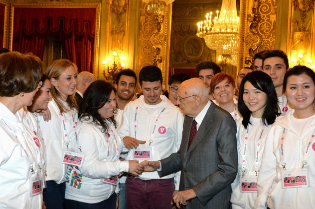 Lo scorso 12 novembre l'allora Presidente Napolitano aveva incontro una delegazione dei volontari di Expo 2015