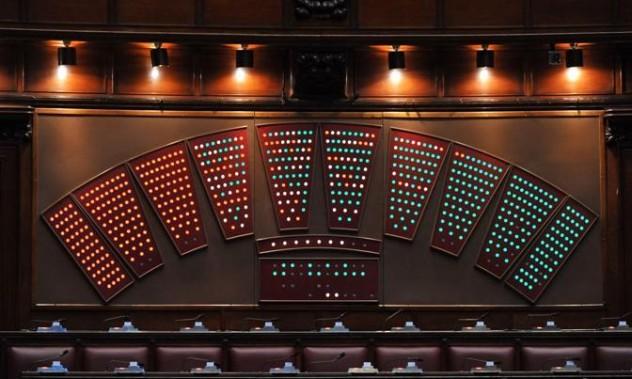 tabellone camera dei deputati