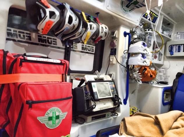 Assistenza l'ambulanza Anpas