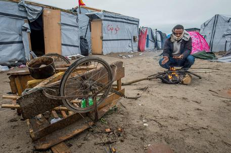 Migrants in The Jungle in Calais