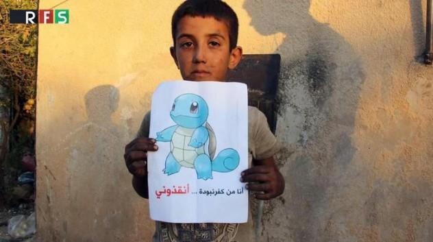 """Siria: appello dei bimbi, Pokemon Go? """"venite a salvare noi"""""""