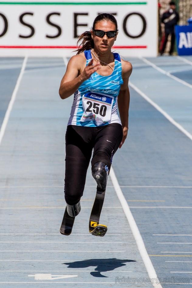 L'atleta paralimpica Giusy Versace - foto di Fabiano Venturelli