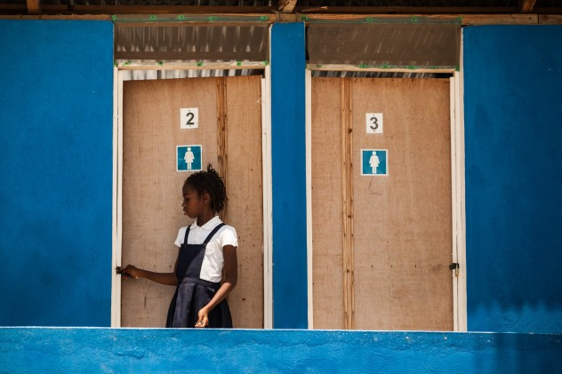 Bertina by the New Latrines installed by Oxfam_Haiti_Vincent Tremeau (1)