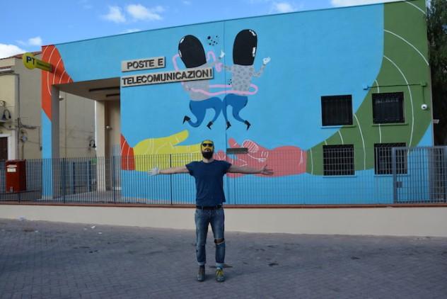 Murales realizzato a Lampedusa