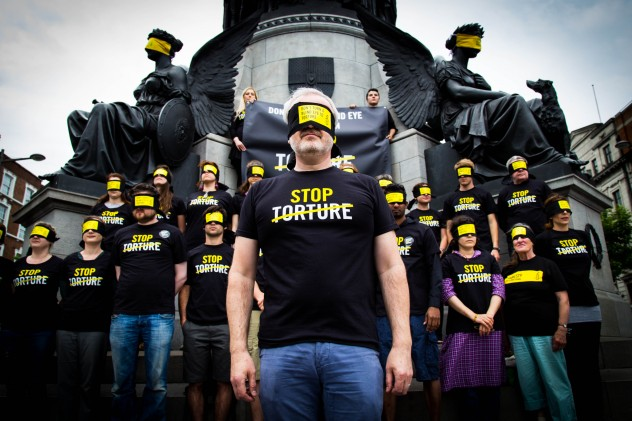 Amnesty International Ireland marked the International Day in Support of Victims of Torture on the 26th of June with a Stop Torture campaign moment at the O'Connell Monument in Dublin. Activists and victims of torture from Sporazi came together to call for an end to torture