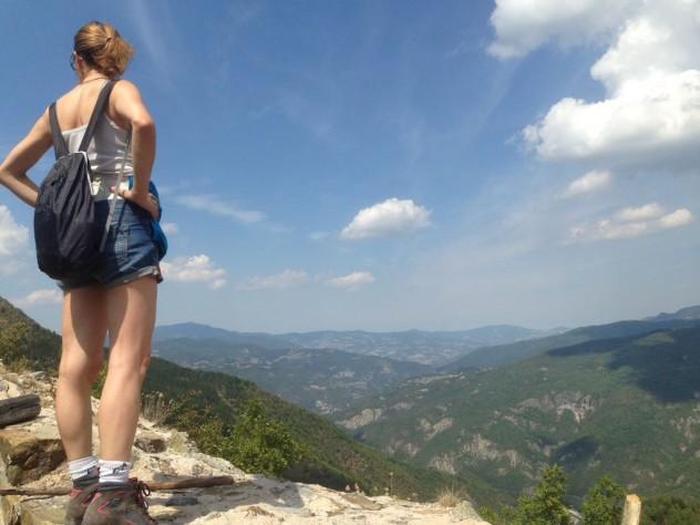 Cariseto con vista sulla Val Trebbia