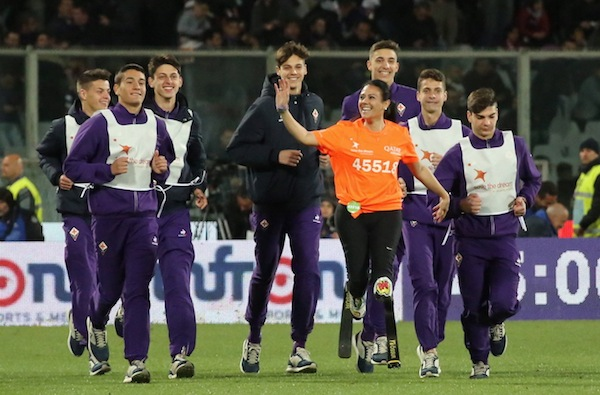 Firenze 22 Aprile 2017  Firenze stadio Artemio Franchi  campionato serie A Tim  Fiorentina  vs Inter  nella foto  VERSACE Copyright Massimo Sestini