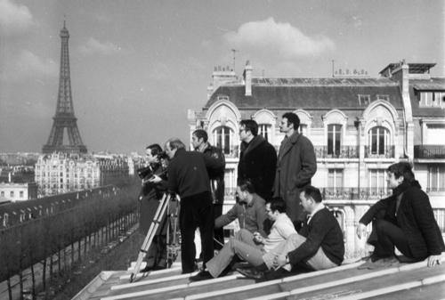 Truffaut sul set di Baci rubati
