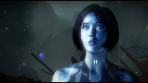 Una rappresentazione di Cortana nel videogioco Halo