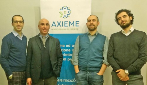 Da sinistra: Edoardo Monaco (CEO), Luca Pomo (Sales Manager), Matteo Gallo (Marketing), Marco Pollara (CTO).