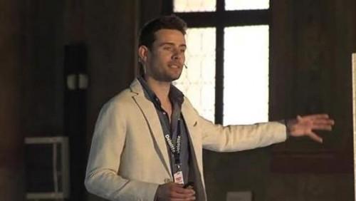 (Fausto Panizzolo tre anni fa durante una presentazione TEDex Padova)