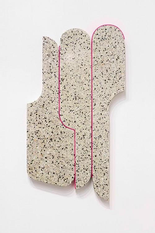 Andrea Sala, Venezia Grigia, 2016, Venetian Terrazzo, 95 x 50 x 3cm, ph Andrea Rossetti, courtesy Federica Schiavo Gallery