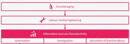 (Un'infografica tratta dallo studio The Twin treats of Aging and Automation Italian Briefing)