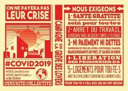Un manifesto francesce per lo sciopero degli affitti pubblicato sul gruppo Facebook