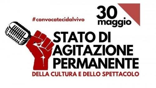 Locandina delle manifestazioni in programma il 30 maggio / da Facebook Attrici attori uniti