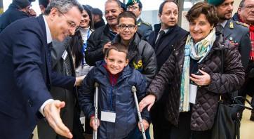 In foto uno dei corridoi umanitari Libano - Italia della Comunità di Sant'Egidio finanziato dall'8 per mille della Chiesa Valdese