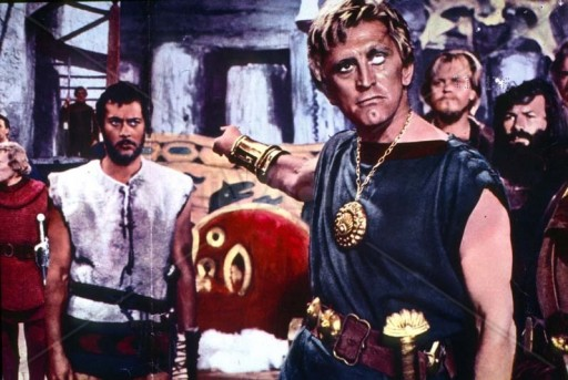 Kirk Douglas con Tony Curtis ne I vichinghi (1958) di Richard Fleischer