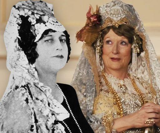 Il confronto tra Meryl Streep (67 anni) in Florence (2016) e la vera Florence Foster Jenkins