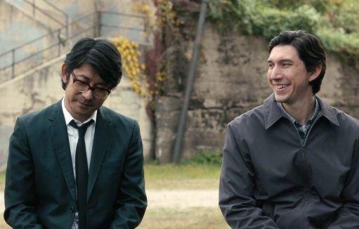 Masatoshi Nagase e Adam Driver in una scena di Paterson (2016) di Jim Jarmusch