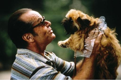 Jack Nicholson nel ruolo di Melvin, protagonista di Qualcosa è cambiato (1997) di James L. Brooks, con il cagnolino Verdell