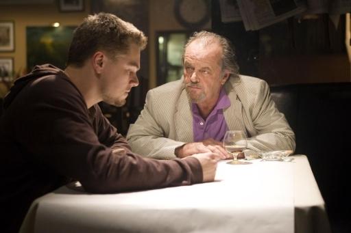 Jack Nicholson con Leonardo DiCaprio in The Departed - Il bene e il male (2006) di Martin Scorsese