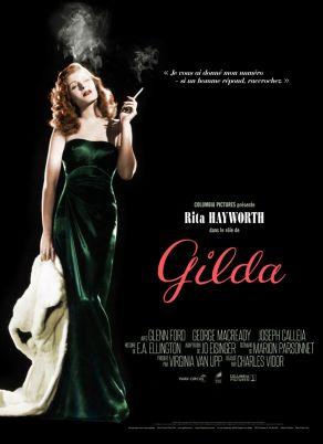 La locandina di Gilda (1946) di Charles Vidor con Rita Hayworth e Glenn Ford