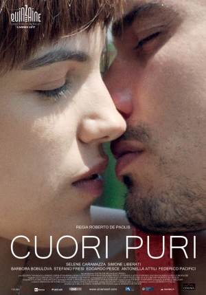 La locandina di Cuori puri (2017) di Roberto De Paolis, presentato il 23 maggio al Festival di Cannes