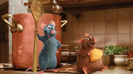 I topolini protagonisti di Ratatouille (2007) film d'animazione di Brad Bird e Jan Pinkava