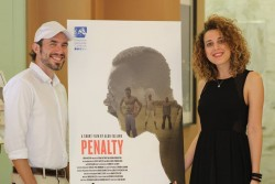 penalty proiezione LA Aldo Iuliano e la produttrice Andrette Lo Conte