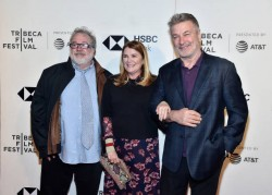 "NEW YORK, NY - APRIL 21:  Tom Hulce, Mare Winningham and Alec Baldwin attend ""The Seagull"" premiere during the 2018 Tribeca Film Festival at BMCC Tribeca PAC on April 21, 2018 in New York City.  (Photo by Theo Wargo/Getty Images for Tribeca Film Festival)"