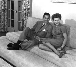 Tyrone Power and 2nd wife Linda Christian, 1949, I.V.