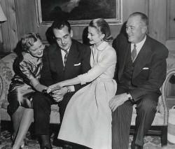 Nel 1956 con Ranieri e i genitori