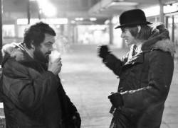 Stanley Kubrick e Malcom McDowell