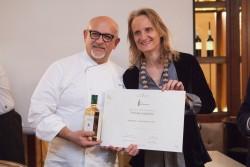 Diana Frescobaldi con Caudio Sadler, il vincitore del Premio Laudemio 2018 ©Gabriella Gargioni Ph