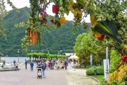 Cernobbio il mercato di Coldiretti in Riva in occasione di Qui c'è Campo