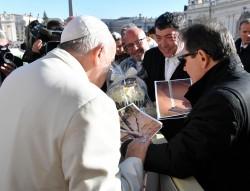 Nicola Fiasconaro da Papa Francesco