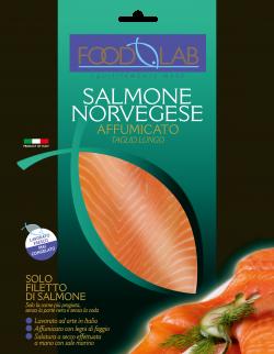 FoodLab - Salmone Norvegese affumicato - Pack 100 G.