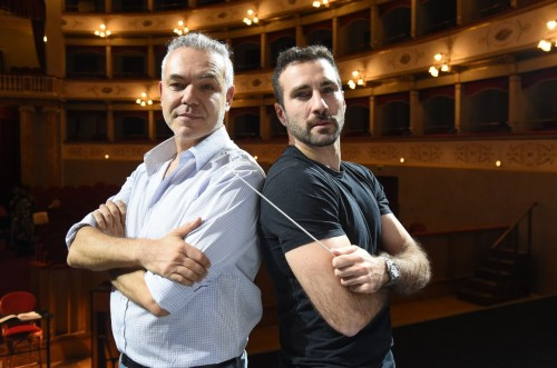 Il regista Massimo Gasparon e il direttore d_orchestra Jacopo Sipari di Pescasseroli