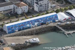 Aerial illustration of the village and race headquarters of the Vendee Globe 2016 in Les Sables d'Olonne, France, on october 4, 2016 - Photo Olivier Blanchet / DPPI