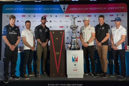 25/05/2017, Royal Naval Dockyard (Bermuda), 35th America's Cup, 1 day to go, skippers press conference