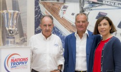 Javier Sanz (president RCNP), Leonardo Ferragamo (Chairman of Nautor's Swan), Pilar Carbonell (General Director Tourism of the Balearic Islands)
