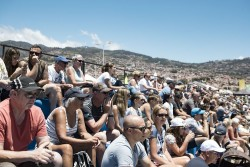 The Extreme Sailing Series. Act 3. Madeira, Portugal. Vast crowds gather inside of the venue for racing on day 3 Credit - Mark Lloyd/Lloyd Images