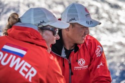 Leg 8 from Itajai to Newport, day 06 on board Dongfeng. 27 April, 2018. Horace and Carolijn Brouwer.