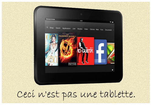 Amazon Kindle Fire HD (elaborazione grafica di Marcello Campestrini)