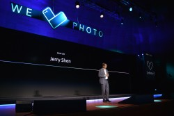 ASUS CEO Jerry Shen opens the We Love Photo press conference launching the new ZenFone 4 family in Europe.